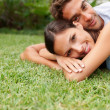 Romantic couple relaxing outdoors - Stock fotografie