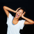 Royalty-Free Stock Photo: Angry woman screaming