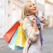Shopaholic woman - Stockfoto