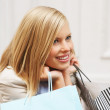 Shopaholic woman - Foto Stock