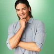 Smiling man posing - Stockfoto