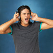 Lost in music - Stockfoto