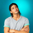 Attractive man thinking about future - Stockfoto