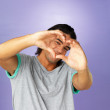 Royalty-Free Stock Photo: Man making heart sign