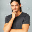 Happy man posing - Stockfoto