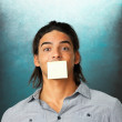 Shut your mouth - Stock Photo