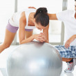 Royalty-Free Stock Photo: Work out with exercise ball