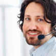 Royalty-Free Stock Photo: Business man talking on headset