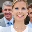 Royalty-Free Stock Photo: Happy business team supporting their leader