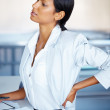 Royalty-Free Stock Photo: Female executive stretching