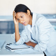 Royalty-Free Stock Photo: Female executive under stress