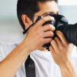 Photographer ready to shoot - Stock Photo