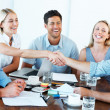 Royalty-Free Stock Photo: Successful businesspeople shaking hands making a necessary agree