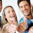 Royalty-Free Stock Photo: Successful business team with thumbs up