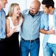 Royalty-Free Stock Photo: Excited casual bsuinesspeople celebrating their success