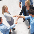 Royalty-Free Stock Photo: Businesspeople shaking hands finishing up a meeting