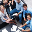 Royalty-Free Stock Photo: Successful group of businesspeople working on new business plans