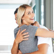 Royalty-Free Stock Photo: Beautiful young female hugging her boyfriend