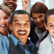 Royalty-Free Stock Photo: Group of executives celebrating their success
