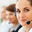 Royalty-Free Stock Photo: Beautiful call center executive