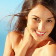 Pretty woman smiling - Stock Photo