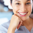 Happy young businesswoman - Stock Photo