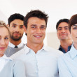 Royalty-Free Stock Photo: Male leader with his successful team