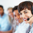 Female customer support - Stock Photo