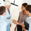 Royalty-Free Stock Photo: Business agreement - Businesspeople shaking hand with eachother