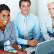 Successful diverse business group during a meeting - Stock Photo