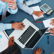 Accounting - Business calculating budget in meeting - Foto Stock