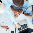 Accounting - Group of business working together - Foto Stock