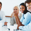 Royalty-Free Stock Photo: Happy team of business associates at a meeting