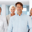 Royalty-Free Stock Photo: Multi ethnic group of business rejoicing success