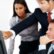 Group of businesspeople concentrating on work - Stockfoto