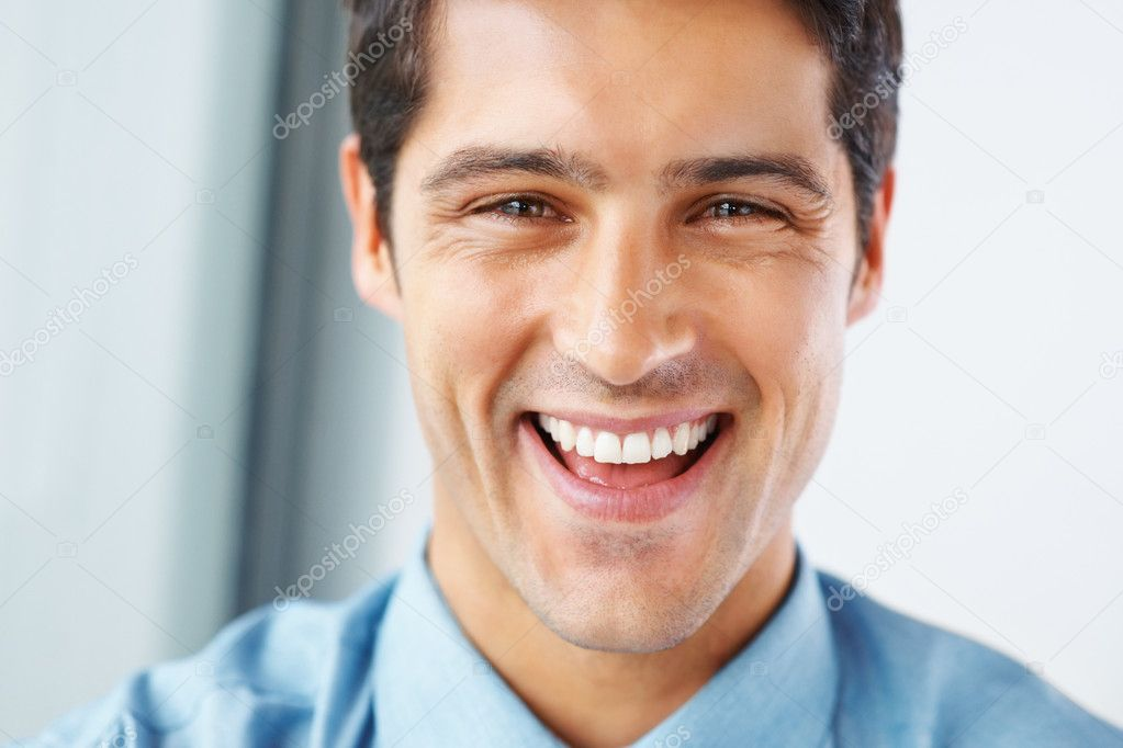 Closeup of executive smiling — Stock Photo #7783414
