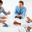 Executives having conversation - Stock Photo