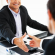 Executives shaking hands - Stock Photo
