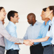 Business greeting - Stock Photo