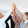 Royalty-Free Stock Photo: Group of businesspeople enjoying business achievement
