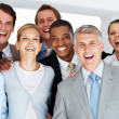 Royalty-Free Stock Photo: Happy business colleagues standing together