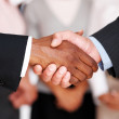 Royalty-Free Stock Photo: Closeup of business shaking hands