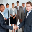 Royalty-Free Stock Photo: Handshake between two business men over a deal