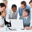 Diverse business group discussing a new important project - Foto Stock