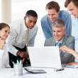Royalty-Free Stock Photo: Group of business working on laptop