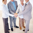 Business team working towards a common goal - Stock Photo