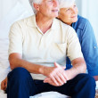 Royalty-Free Stock Photo: Senior couple looking away