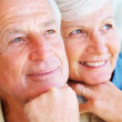 Royalty-Free Stock Photo: Happy senior couple looking away