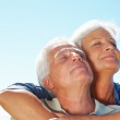 Royalty-Free Stock Photo: Senior couple enjoying the serene weather