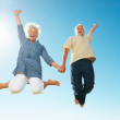 Senior couple having fun - Stock Photo